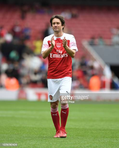 Tomas Rosicky of Arsenal after the match between Arsenal Legends and Real Madrid Legends at Emirates Stadium on September 8, 2018 in London, United...