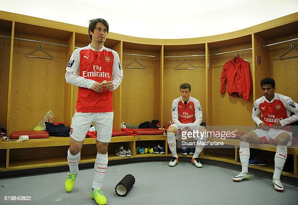 Tomas Rosicky of Arsenal before the Barclays Premier League match between Arsenal and Newcastle United at Emirates Stadium on April 8 2016 in London...
