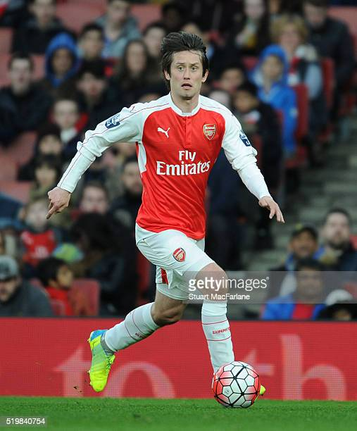 Tomas Rosicky of Arsenal during the Barclays Premier League match between Arsenal and Newcastle United at Emirates Stadium on April 8 2016 in London...