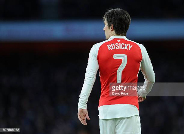 Tomas Rosicky of Arsenal during the Emirates FA Cup Fourth Round match between Arsenal and Burnley in the FA Cup 4th round at Emirates Stadium on...