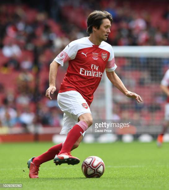 Tomas Rosicky of Arsenal during the match between Arsenal Legends and Real Madrid Legends at Emirates Stadium on September 8, 2018 in London, United...
