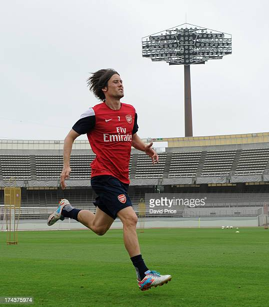 Tomas Rosicky of Arsenal FC in Japan for the club's preseason Asian tour at the Urawa Komaba Stadium on July 25 2013 in Saitama Japan