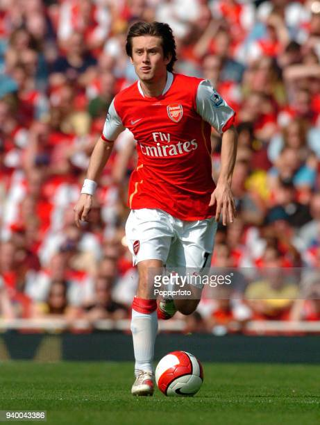 Tomas Rosicky of Arsenal in action during the Barclays Premiership match between Arsenal and Bolton Wanderers at the Emirates Stadium in London on...