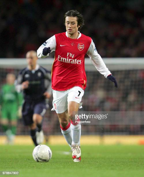 Tomas Rosicky of Arsenal in action during the FA Cup 4th Round match between Arsenal and Bolton Wanderers at Emirates Stadium in London on January 28...