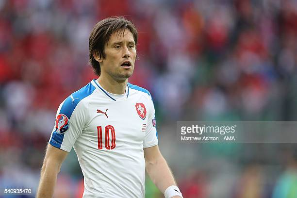 Tomas Rosicky of Czech Republic reacts at the end of the UEFA EURO 2016 Group D match between Czech Republic and Croatia at Stade Geoffroy-Guichard...