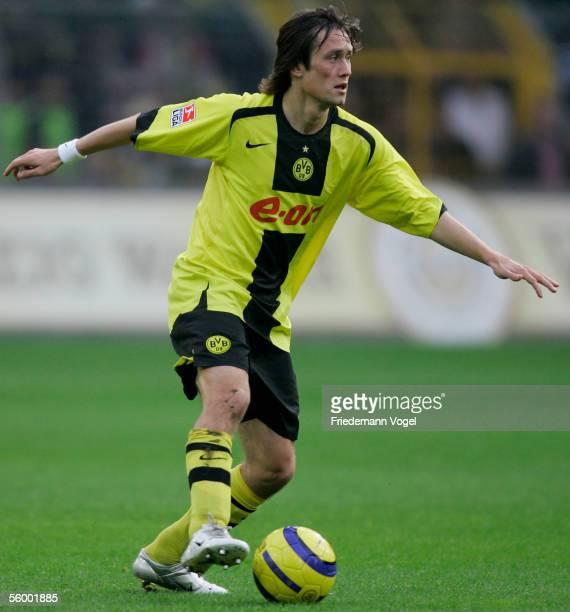 Tomas Rosicky of Dortmund in action during the Bundesliga match between Borussia Dortmund and Hamburger SV at the Westfalen Stadium on October 23...