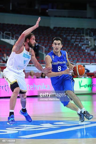 Tomas Satoransky of Czech Republic dribbles the ball during the FIBA EuroBasket 2015 Group D basketball match between Ukraine and Czech Republic at...