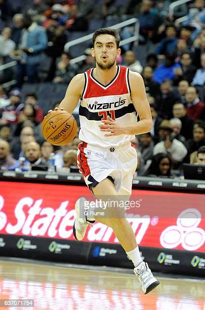 Tomas Satoransky of the Washington Wizards handles the ball against the Phoenix Suns at Verizon Center on November 21 2016 in Washington DC NOTE TO...
