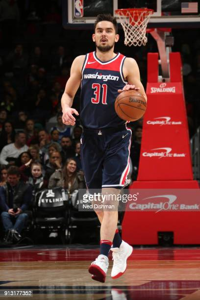 Tomas Satoransky of the Washington Wizards handles the ball against the Toronto Raptors on February 1 2018 at Capital One Arena in Washington DC NOTE...