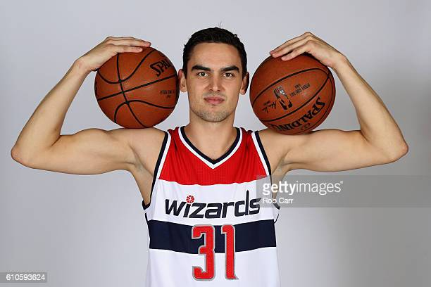 Tomas Satoransky of the Washington Wizards poses during media day at Verizon Center on September 26 2016 in Washington DC NOTE TO USER User expressly...