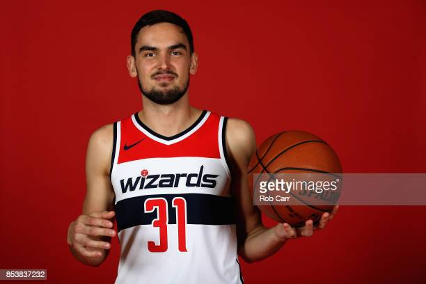 Tomas Satoransky of the Washington Wizards poses during media day at Capital One Arena on September 25 2017 in Washington DC NOTE TO USER User...