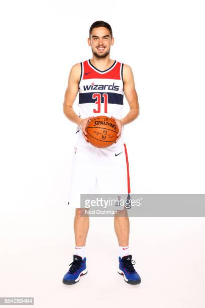 Tomas Satoransky of the Washington Wizards poses for a portrait during Media Day on September 25 2017 at Captial One Center in Washington DC NOTE TO...