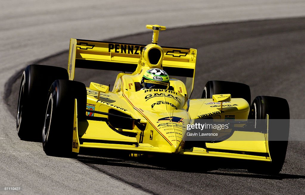 Tomas Scheckter drives the #4 Pennzoil Panther Racing Chevrolet Dallara during practice for the Indy Racing League IndyCar Series Menards A.J. Foyt Indy 225 on July 23, 2004 at the Milwaukee Mile in Milwaukee, Wisconsin.