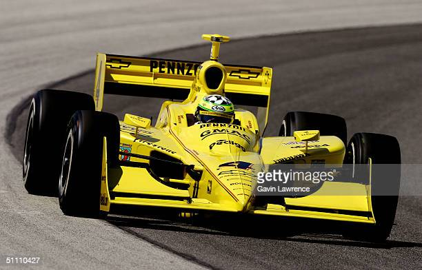 Tomas Scheckter drives the Pennzoil Panther Racing Chevrolet Dallara during practice for the Indy Racing League IndyCar Series Menards AJ Foyt Indy...