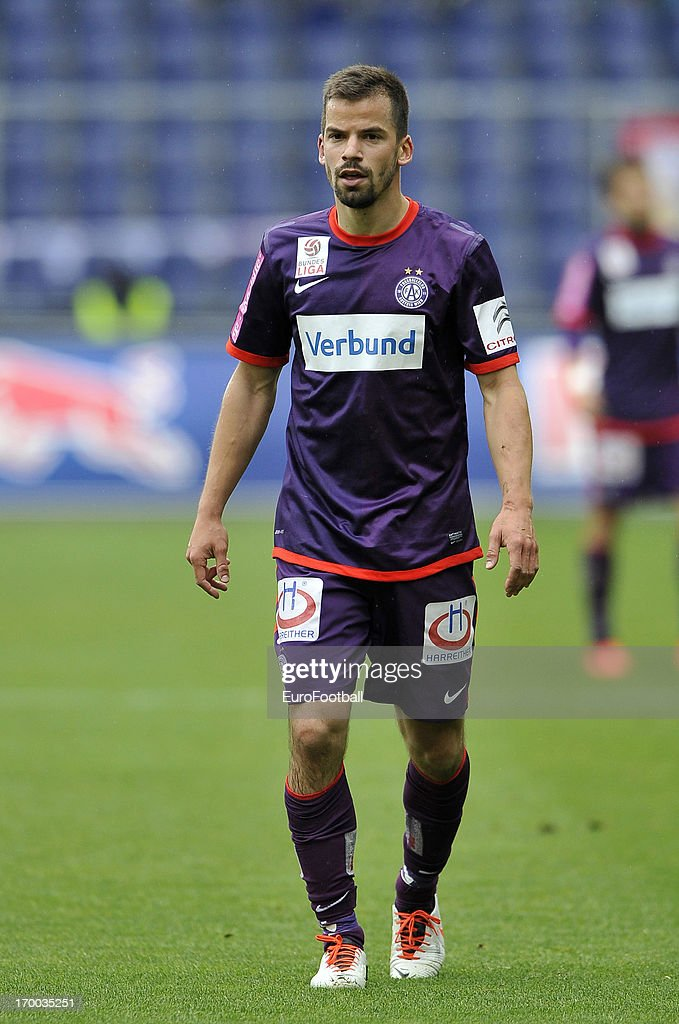 Tomas Simkovic of FK Austria Wien in action during the Austrian Bundesliga match between FC Salzburg and FK Austria Wien held on May 26, 2013 at the Red Bull Arena in Salzburg, Austria.