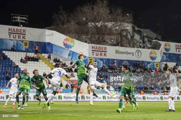 Tomas Sivok of Bursaspor Christian Chagas Tarouco of Kasimpasa SKduring the Turkish Spor Toto Super Lig football match between Kasimpasa SK and...