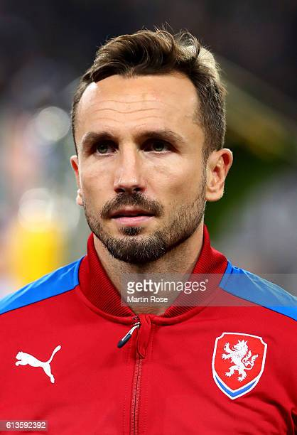 Tomas Sivok of Czech Republic looks on before the FIFA 2018 World Cup Qualifier between Germany and Czech Republic at Volksparkstadion on October 8...