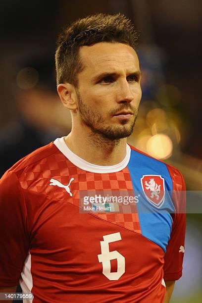 Tomas Sivok of Czech Republic prior to the International Friendly match between Republic of Ireland and Czech Republic at Aviva Stadium on February...