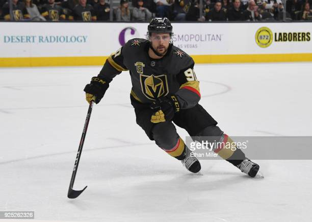 Tomas Tatar of the Vegas Golden Knights skates against the Los Angeles Kings in the second period of their game at TMobile Arena on February 27 2018...