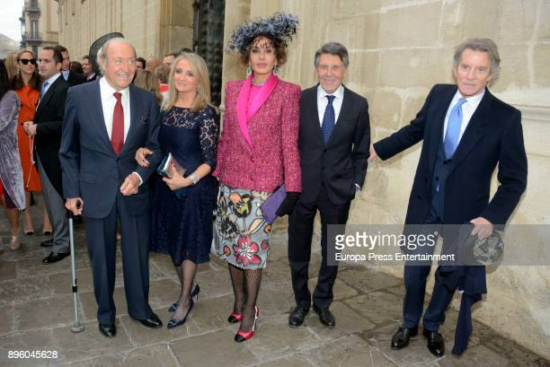 Tomas Terry Delfina Sanz Naty Abascal Manuel Colonques and Alfonso Diez attend the wedding of Diego Miranda Alvarez Pickman and Ines Abaurre Benjumea...