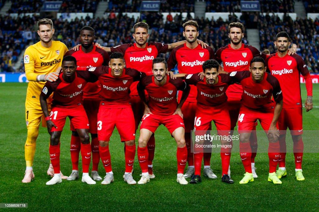 Real Sociedad v Sevilla - La Liga Santander : Fotografía de noticias