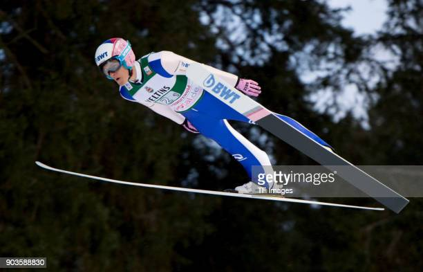 Tomas Vancura of Czech Republic competes during the FIS Ski Jumping World Cup on December 09 2017 in TitiseeNeustadt Germany