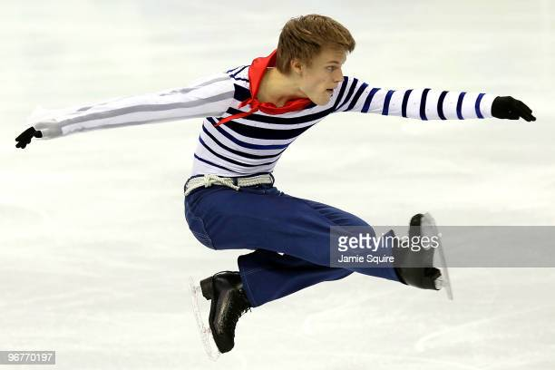 Tomas Verner of Czech Republic competes in the men's figure skating short program on day 5 of the Vancouver 2010 Winter Olympics at the Pacific...