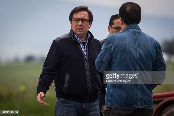 Tomas Zeron Director of the Agencia de Investigación Criminal looks on during an operation on the surroundings of Mexican Maximum Security Prison of...