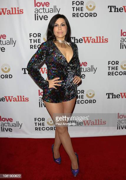 Tomasina Abate attends the opening night reception for Love Actually Live at Wallis Annenberg Center for the Performing Arts on December 12 2018 in...