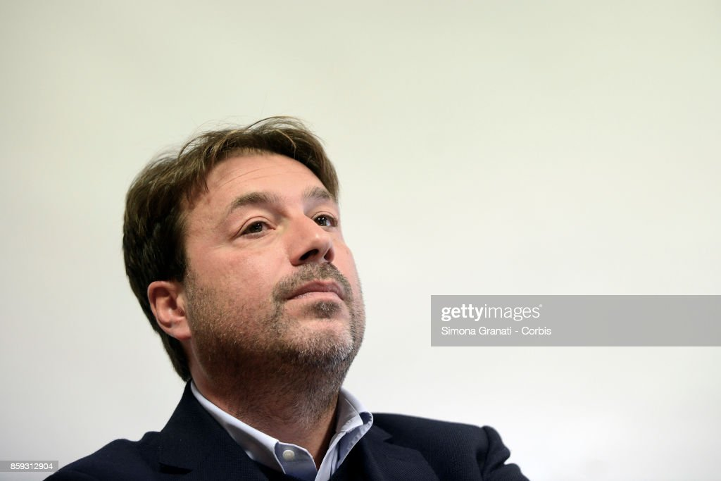 Tomaso Montanari during the Press Conference for the relaunch of the political subject of Left: Alleanza popolare per la democrazia e l'uguaglianza (People's Alliance for Democracy and Equality), on October 9, 2017 in Rome, Italy.
