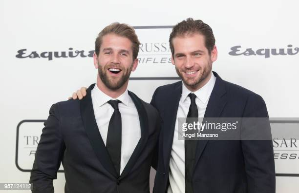 Tomaso Trussardi and Andre Hamann attend new fragrance Riflesso de Trussardi launching party at Palacio de Santa Coloma on May 10 2018 in Madrid Spain