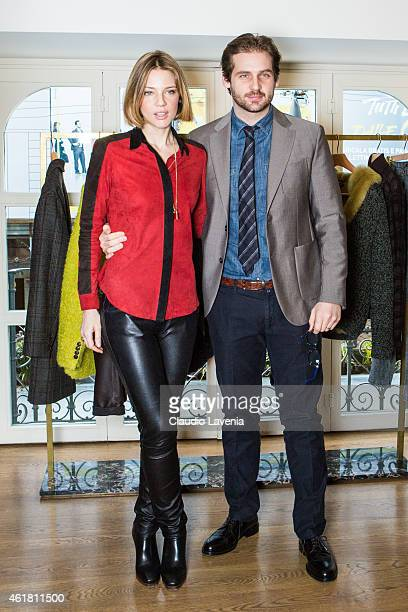 Tomaso Trussardi and Gaia Trussardi attends Trussardi Presentation during the Milan Menswear Fashion Week/Fall Winter 2015/2016 on January 19, 2015...