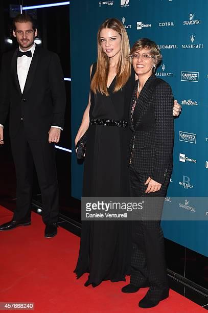 Tomaso Trussardi Gaia Trussardi and Giulia Bongiorno attend Un'Altra Storia Charity Event Benefiting Doppia Difesa Arrivals during the 9th Rome Film...