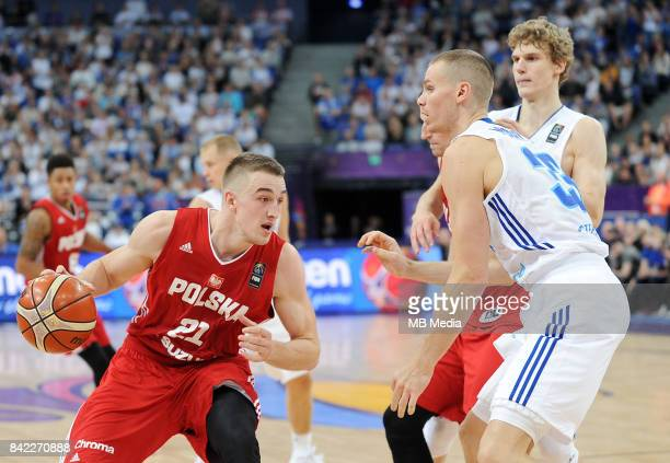Tomasz Gielo of Poland during the FIBA Eurobasket 2017 Group A match between Finland and Poland on September 3 2017 in Helsinki Finland