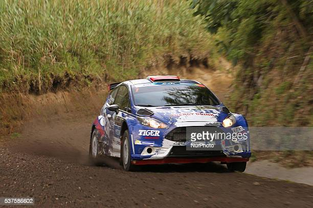 Tomasz Kasperczyk and Damian Syty in Ford Fiesta R5 of Tiger Energy Drink Rallye Team during the shakedow of the FIA ERC Azores Airlines Rallye 2016...