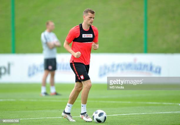 Tomasz Kedziora during a training session of the Polish national team at Arlamow Hotel during the second phase of preparation for the 2018 FIFA World...