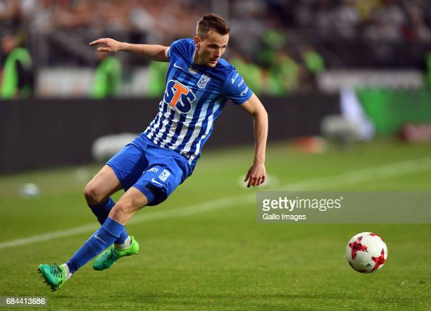 Tomasz Kedziora of Lech Poznan in action during the Extraklasa league match between Legia Warszawa and Lech Poznan on May 17 2017 in Polish Army...