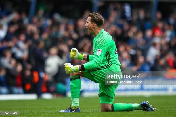 Tomasz Kuszczak of Birmingham City celebrates after Craig Gardner of Birmingham City scores a goal to make it 20 during the Sky Bet Championship...
