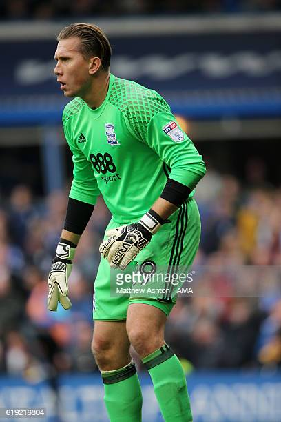 Tomasz Kuszczak of Birmingham City during the Sky Bet Championship match between Birmingham City and Aston Villa at St Andrews on October 30 2016 in...