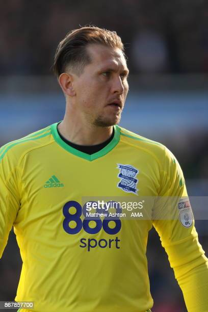 Tomasz Kuszczak of Birmingham City during the Sky Bet Championship match between Birmingham City and Aston Villa at St Andrews on October 29 2017 in...