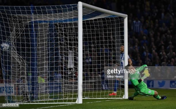 Tomasz Kuszczak of Birmingham City fails to stop Casper Ankergren of Brighton and Hove Albion shot for Brighton and Hove Albion first goal during the...