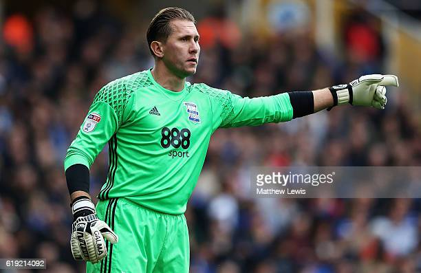 Tomasz Kuszczak of Birmingham City in action during the Sky Bet Championship match between Birmingham City and Aston Villa at St Andrews on October...