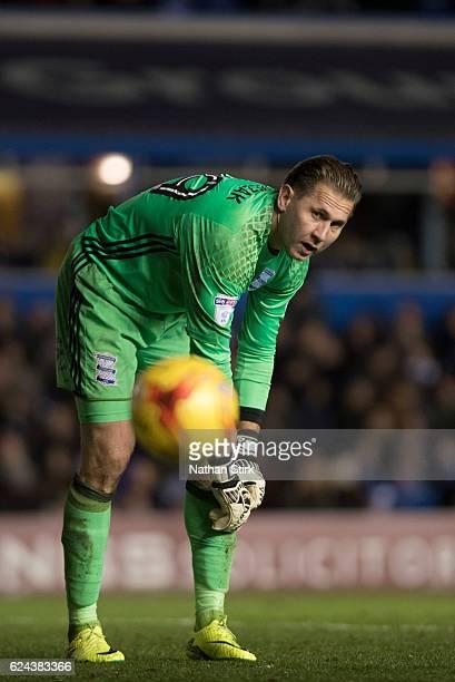 Tomasz Kuszczak of Birmingham City looks on during the Sky Bet Championship match between Birmingham City and Bristol City at St Andrews Stadium on...