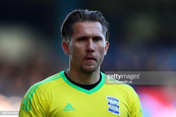 Tomasz Kuszczak of Birmingham City looks on during the Sky Bet Championship match between Birmingham City and Aston Villa at St Andrews on October 29...