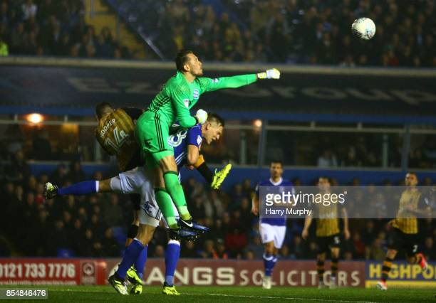 Tomasz Kuszczak of Birmingham City punches the ball clear during the Sky Bet Championship match between Birmingham City and Sheffield Wednesday at St...