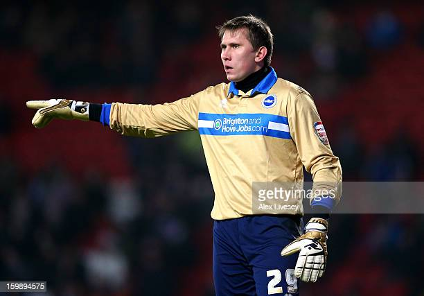 Tomasz Kuszczak of Brighton Hove Albion during the npower Championship match between Blackburn Rovers and Brighton Hove Albion at Ewood park on...