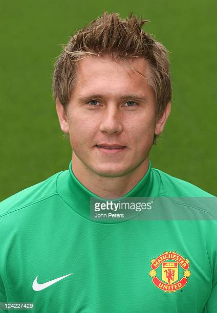 Tomasz Kuszczak of Manchester United poses at the annual club photocall at Old Trafford on September 9 2011 in Manchester England