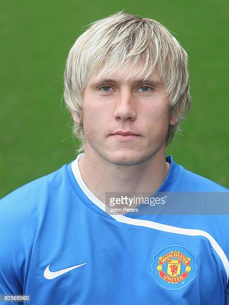 Tomasz Kuszczak of Manchester United poses during the club's official annual photocall at Old Trafford on August 27 2008 in Manchester England