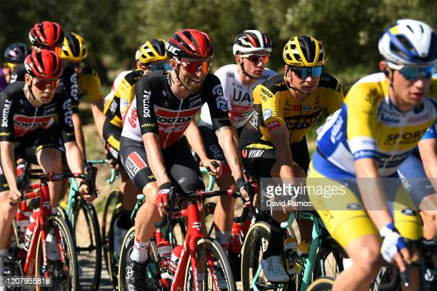 Tomasz Marczyński of Poland and Team Lotto Soudal / Bert-Jan Lindeman of The Netherlands and Team Jumbo-Visma / during the 66th Vuelta a Andalucía -...