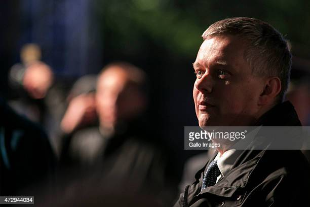 Tomasz Siemoniak Minister of Defence attends the 70th anniversary celebration of the end of the Second World War on May 8 2015 at Westerplatte in...